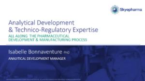 Analytical development & technico regulatory